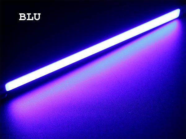 Barra LED COB Blu 12V 15W - lunghezza 20 cm