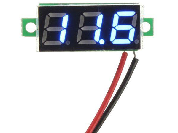 Mini Voltmetro 2,5-30 V - BLU
