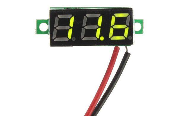 Mini Voltmetro 2,5-30 V - VERDE