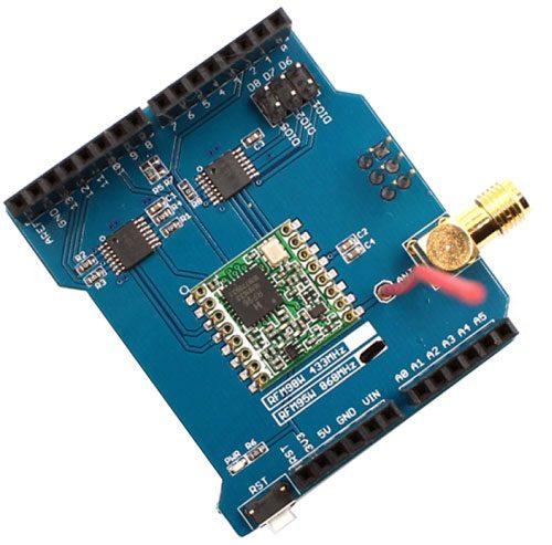 LoRa shield 868 MHz per Arduino/Fishino - Montato