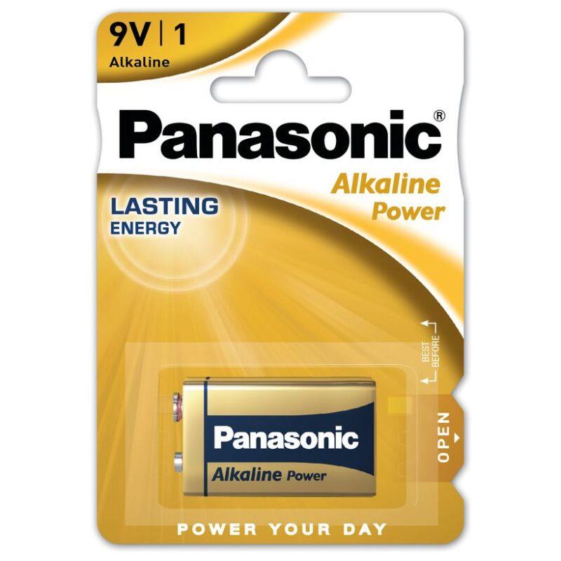 Batteria Alcalina Panasonic Power 9 V