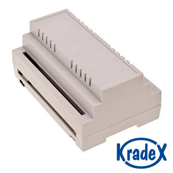 Contenitore plastico per guida DIN - 62,8x88,8x138,8 mm