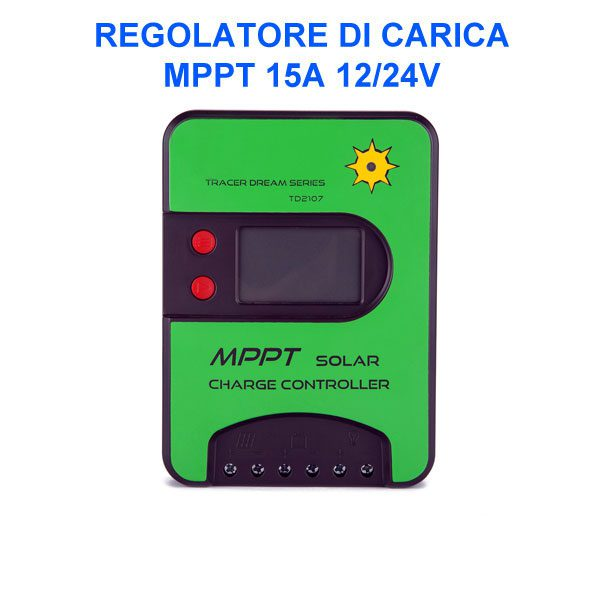 Regolatore di carica pannelli solari - MPPT 15 A