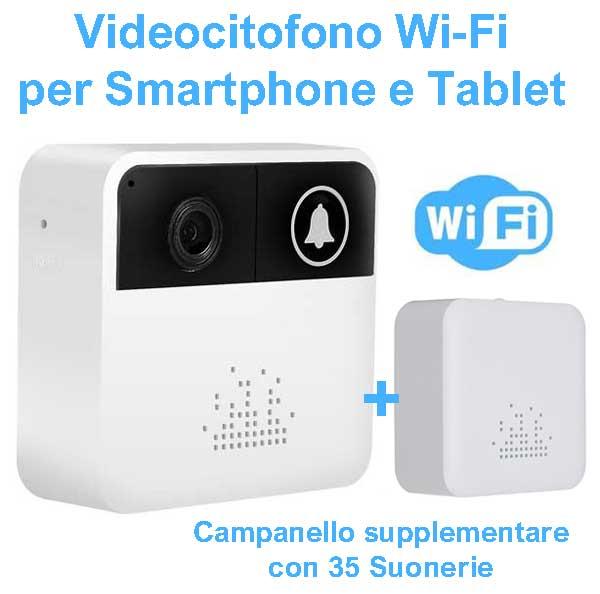 Videocitofono WiFi con notifica su smartphone e tablet