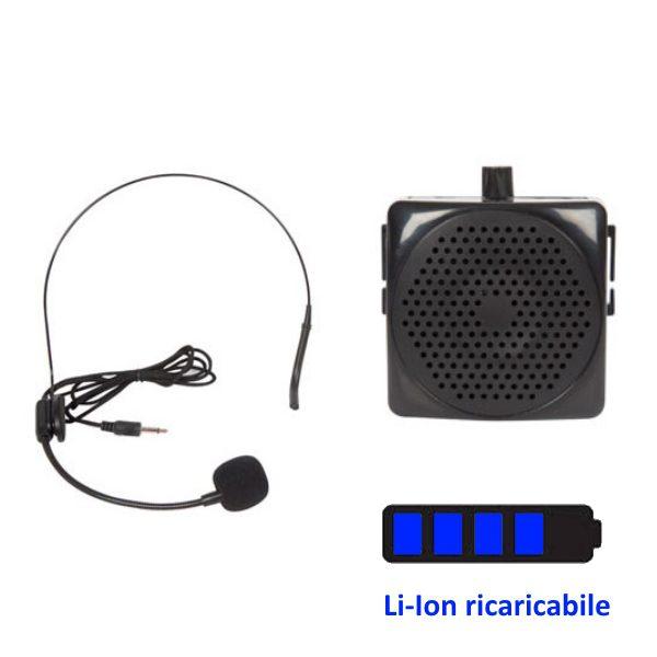 Public Adress portatile con microfono dinamico ad archetto - 5W