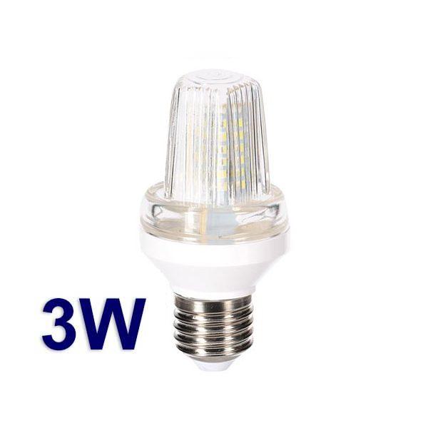 Mini lampada strobo bianca a LED con attacco E27 - 3W