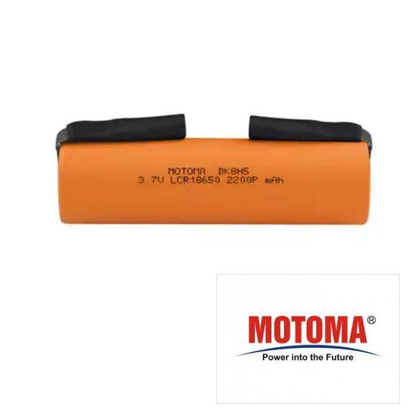 Batteria Li-ion 18650 3,7V 2200mAh Terminali a Saldare -MOTOMA