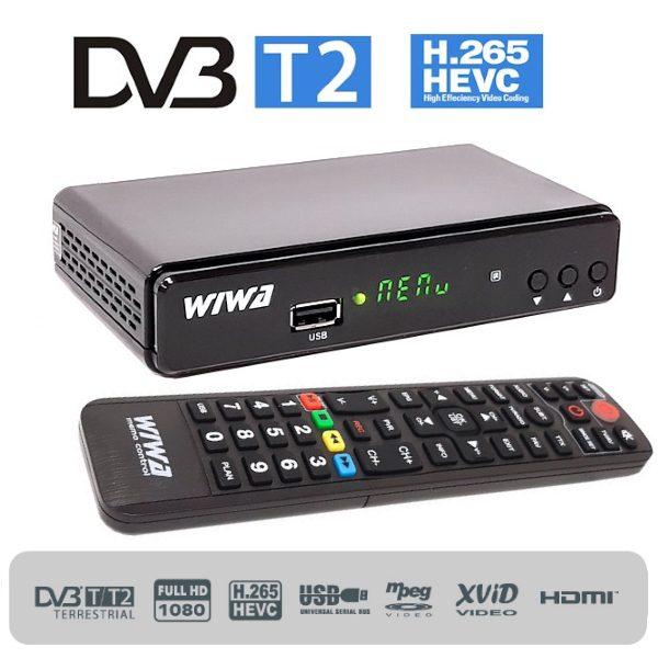 Ricevitore TV digitale terrestre DVB-T2 - H265