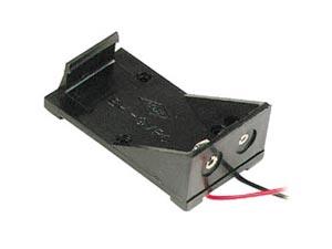 Portabatteria 9 volt con PLUG DC 5,5x2,1 mm